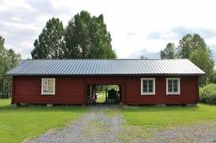 Vagnshus på den Melderstein mangårdsbyggnaden Fotografering för Bildbyråer