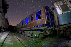 vagnsjärnväg Royaltyfri Fotografi