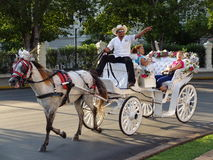 Vagnsritt i Merida Yucatan Fotografering för Bildbyråer