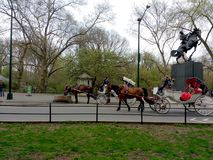 Vagnsritter i Central Park, NYC, NY, USA Arkivfoto