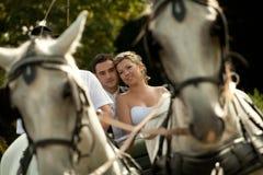 vagnsseriebröllop Royaltyfria Bilder