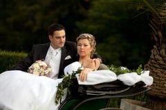 vagnsseriebröllop Fotografering för Bildbyråer