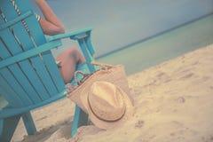 Vago de lujo de la playa Fotos de archivo libres de regalías