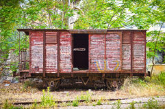 Vagão velho do trem Imagem de Stock