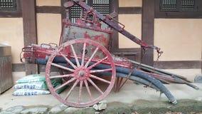 Vagone antico del camion dei vigili del fuoco Fotografia Stock