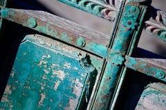 Vagone boscoso decorato dipinto oggetto d'antiquariato fotografia stock libera da diritti