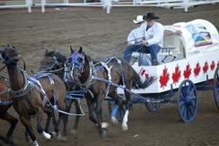 Vagone che corre, fuga precipitosa di Calgary Fotografia Stock