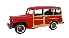 Vagone classico rosso e beige Fotografie Stock