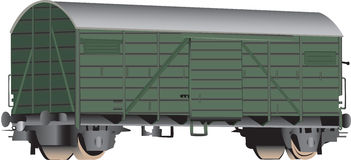 vagone coperto della ferrovia 3D Fotografie Stock