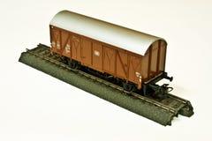 Vagone coperto tedesco di modello della ferrovia di Marklin Immagine Stock
