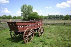 Vagone dell'azienda agricola Fotografia Stock