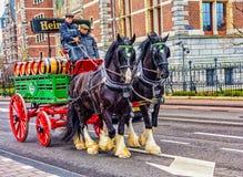 Vagone della birra di Heineken Fotografia Stock Libera da Diritti