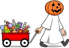 Vagone della caramella di Halloween Immagini Stock