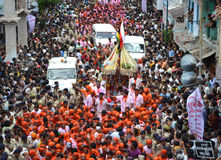 Vagone per il trasporto dei lingotti del signore Jagannath Immagine Stock