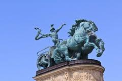 Vagone per il trasporto dei lingotti sul monumento di millennio Fotografie Stock Libere da Diritti