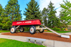 Vagone rosso gigante Fotografie Stock