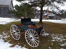 Vagone rustico dell'azienda agricola Fotografia Stock Libera da Diritti