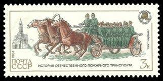 Vagone trainato da cavalli della squadra Fotografia Stock Libera da Diritti