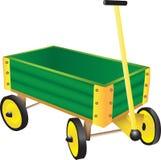 Vagone verde del giocattolo Fotografie Stock Libere da Diritti