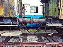 Vagoni arrugginiti Fotografia Stock