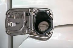vagoni cisterna dell'olio del cappuccio Fotografie Stock