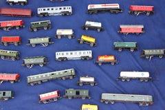 Vagoni del treno del giocattolo Immagini Stock