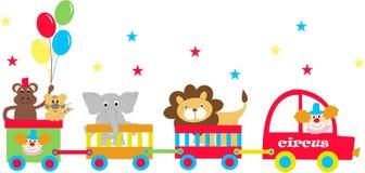 vagoni di circo Immagini Stock
