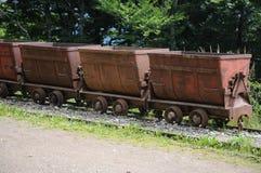 Vagoni di estrazione mineraria Fotografia Stock