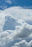 Vagos nublados del paisaje de la naturaleza del cielo azul de nimbo de la nube blanca hermosa Fotos de archivo