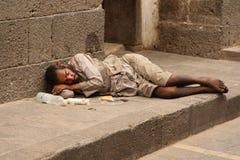 Vagrant na rua Imagem de Stock Royalty Free