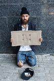Vagrant on the street Royalty Free Stock Photo