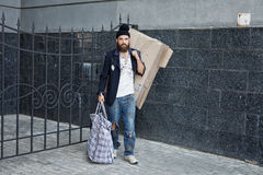 Vagrant on the street Royalty Free Stock Photography