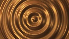Vague abstraite de l'or 3d d'ondulation de boucle clips vidéos