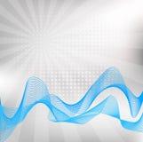 Vague bleue abstraite illustration libre de droits