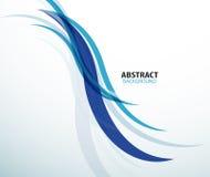 Vague bleue de technologie de fond abstrait Image libre de droits
