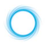 Vague bleue ronde Photos stock