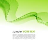 Vague colorée abstraite de fumée de vert de fond Image libre de droits