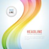 Vague colorée abstraite sur le blanc illustration stock