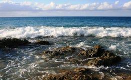 Vague déferlante d'île de Vieques Images libres de droits