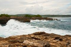 Vague déferlante d'océan Images libres de droits