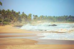 Vague déferlante d'océan Photo libre de droits