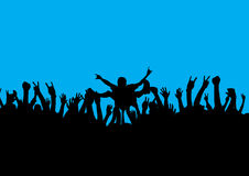 Vague déferlante de foule de roche Images libres de droits