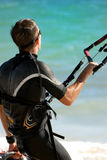Vague déferlante Kiting Photos libres de droits