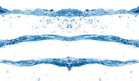 Vague d'eau bleue Photographie stock