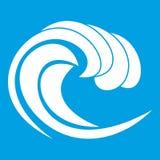Vague de blanc d'icône de marée de mer illustration stock
