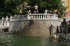 Vague de chaleur anormale à Moscou Photographie stock