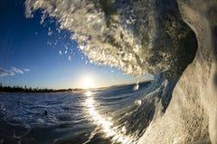 Vague de coucher du soleil Photo stock
