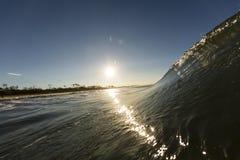Vague de coucher du soleil Photographie stock