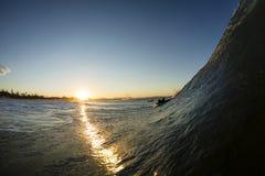 Vague de coucher du soleil Image libre de droits