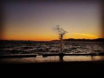 Vague de coucher du soleil Images stock
